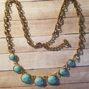 Jewelry - NWOT Blue and Bronze Necklace
